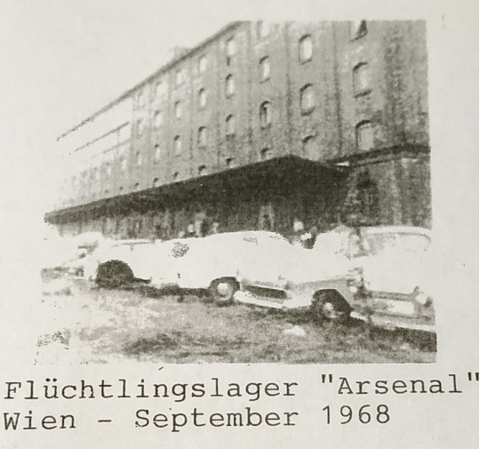 "Fl&uuml;chtlingslager &quot;Arsenal&quot; , Wien Sept 1968 <span class=""fotografFotoText"">(Foto:&nbsp;zvg)</span><div class='url' style='display:none;'>/</div><div class='dom' style='display:none;'>kath-waedenswil.ch/</div><div class='aid' style='display:none;'>315</div><div class='bid' style='display:none;'>4637</div><div class='usr' style='display:none;'>2</div>"
